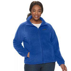 Columbia NWT Blue Full Zip Fleece Jacket Plus Sz